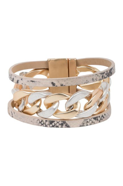 Image of Saachi Strongest Link Layered Link Chain Wrap Bracelet