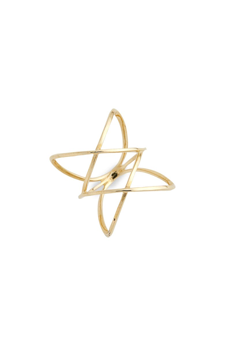 BONY LEVY 14KT Double Crisscross Ring, Main, color, YELLOW GOLD