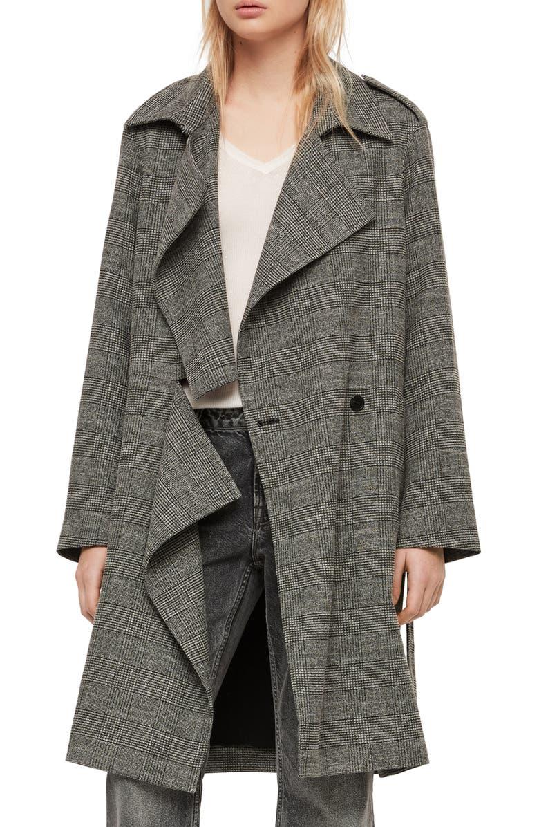 ALLSAINTS Bexley Mac Jacket, Main, color, 014