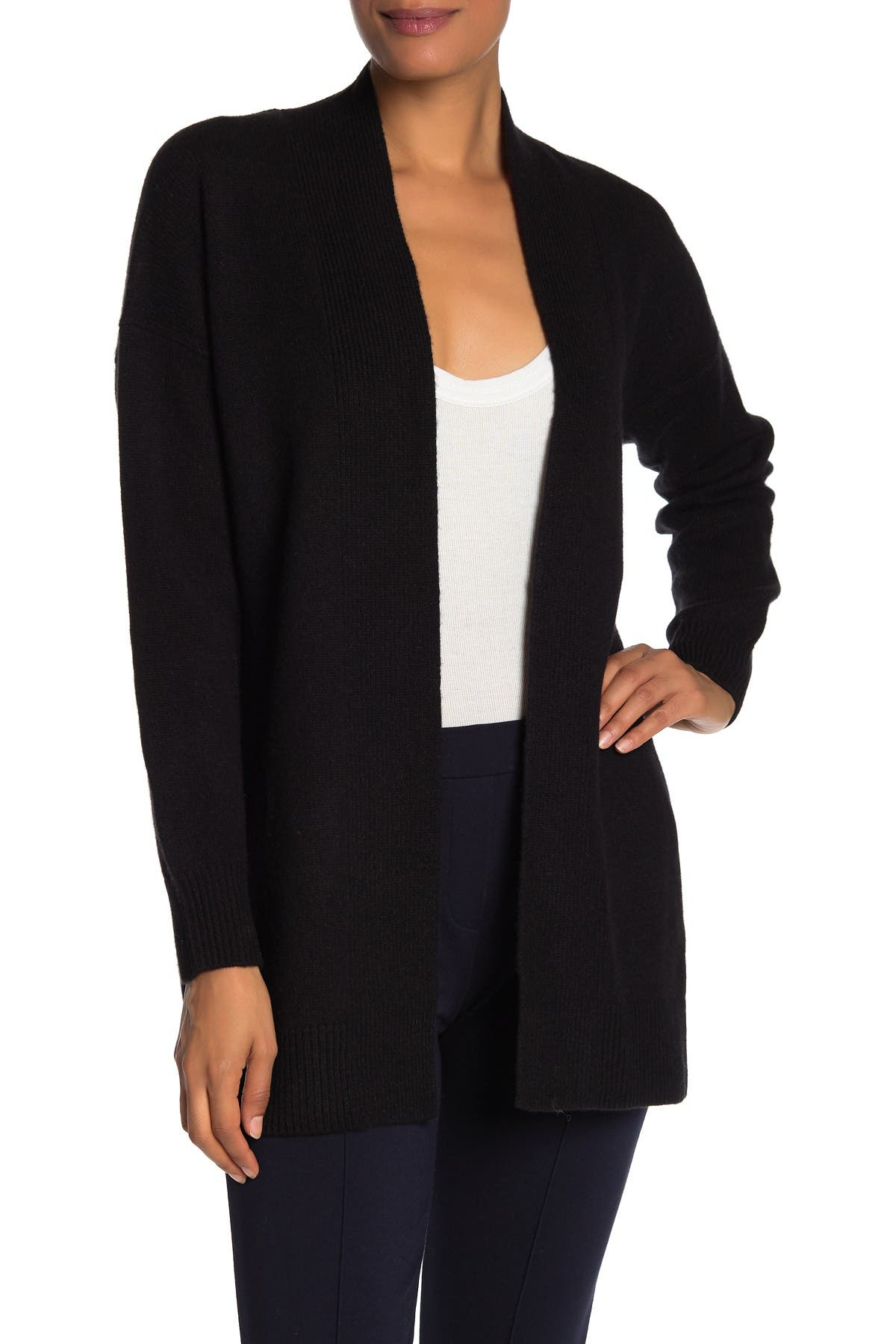 Image of Vince Wool & Cashmere Blend Rib Trim Cardigan