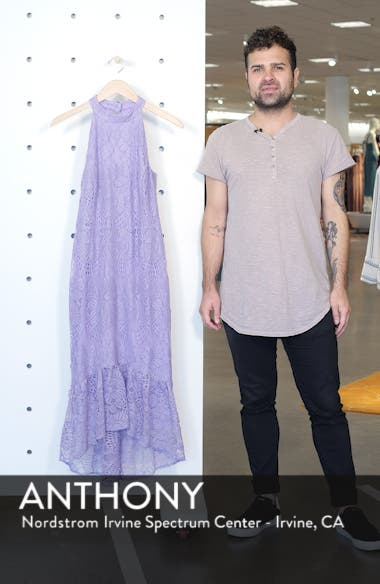 Lace Halter High/Low Dress, sales video thumbnail