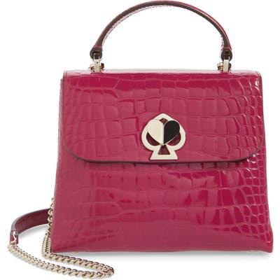 Kate Spade New York Romy Croc-Embossed Leather Top Handle Bag - Purple