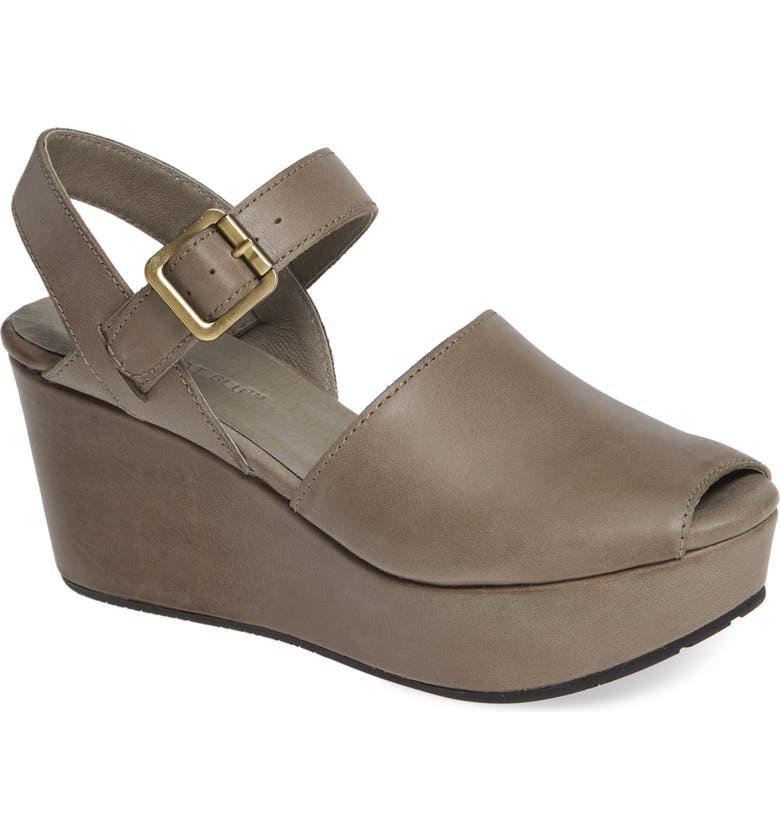 CHOCOLAT BLU Wagga Platform Wedge Sandal, Main, color, GREY LEATHER