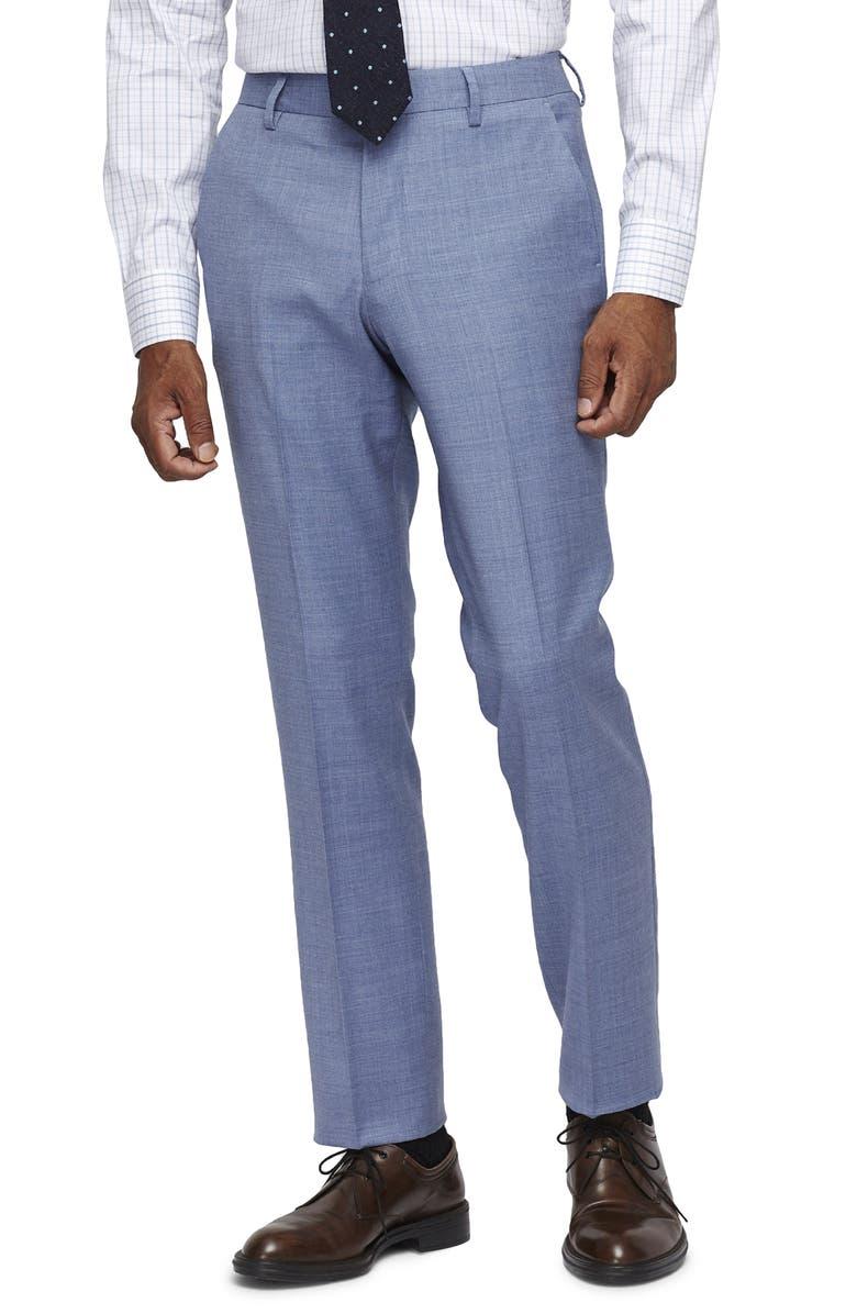 BONOBOS Jetsetter Slim Fit Stretch Wool Suit Pants, Main, color, ICE BLUE