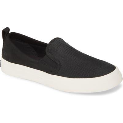 Sperry Crest Twin Gore Slip-On Sneaker, Black