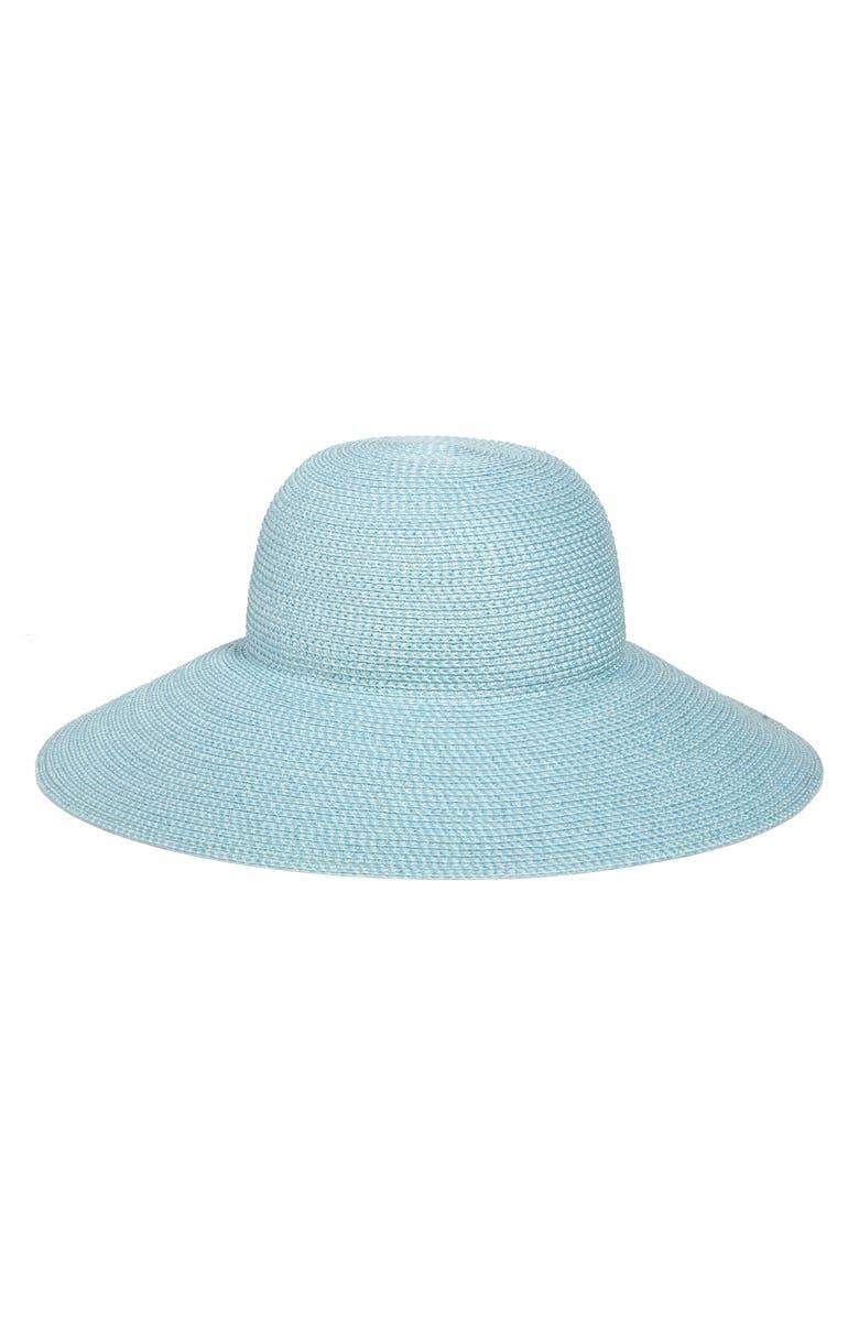 ERIC JAVITS 'Hampton' Straw Sun Hat, Main, color, AQUA