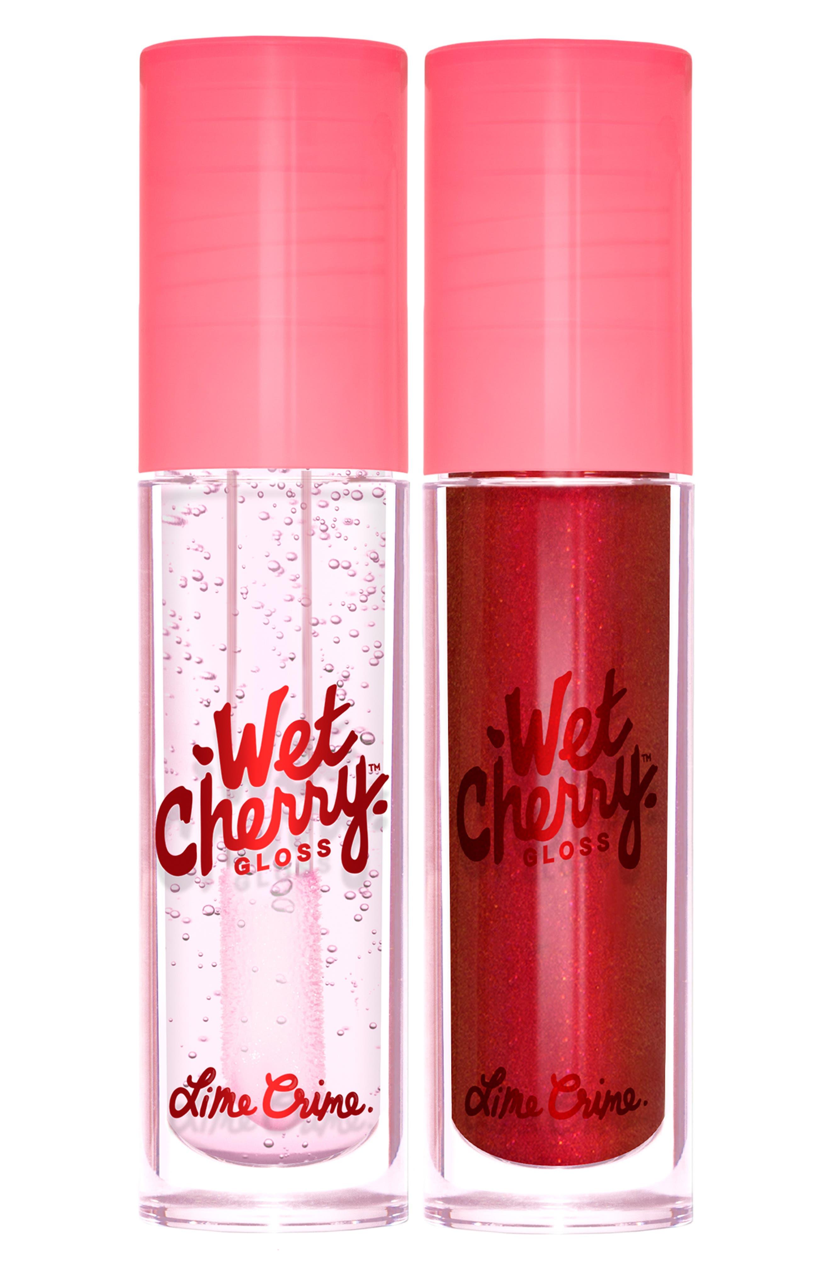 Lip Crime Chart Toppers Wet Cherry Gloss Set
