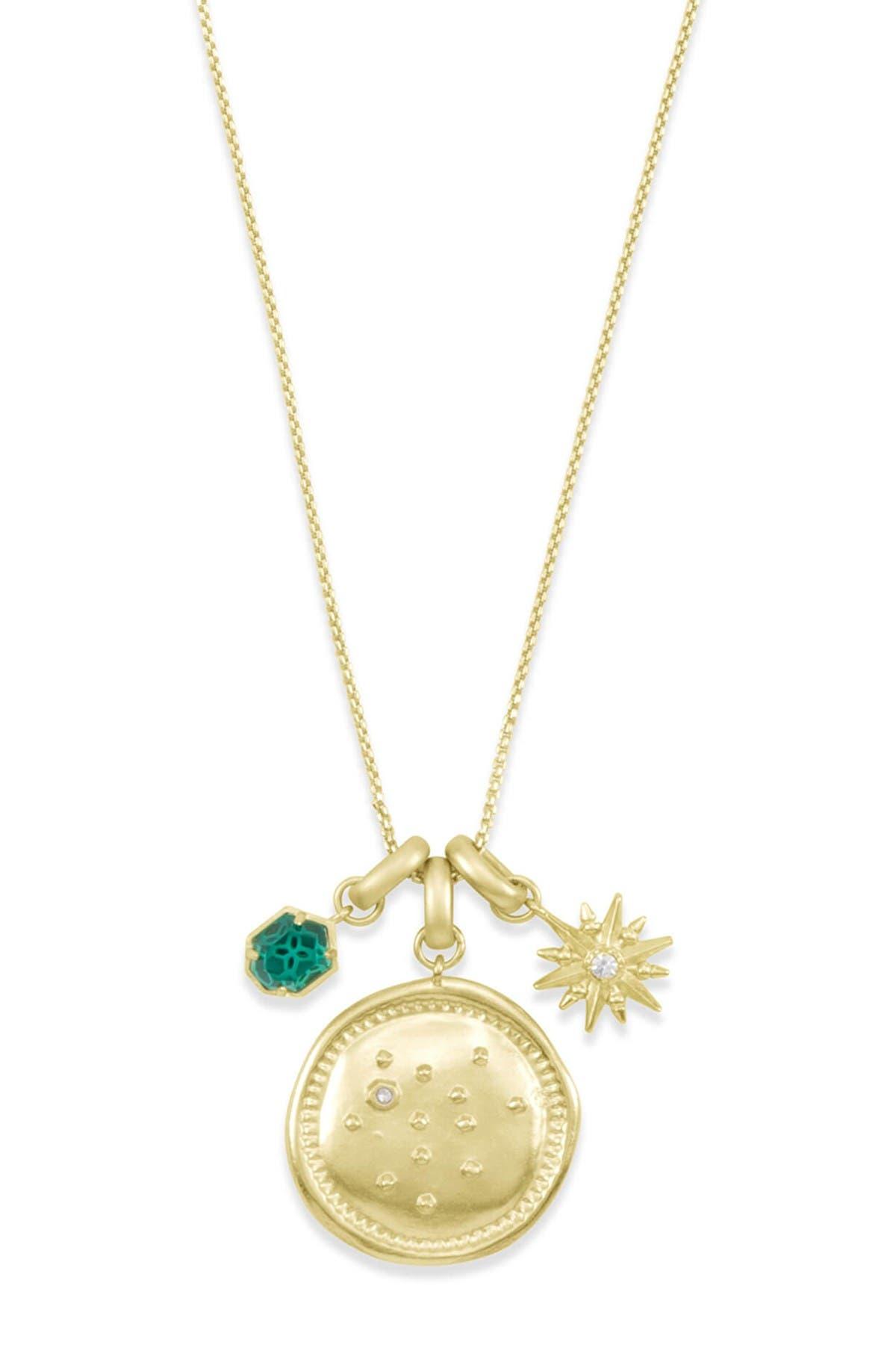 Image of Kendra Scott 14K Gold Plated Sagittarius Charm Necklace