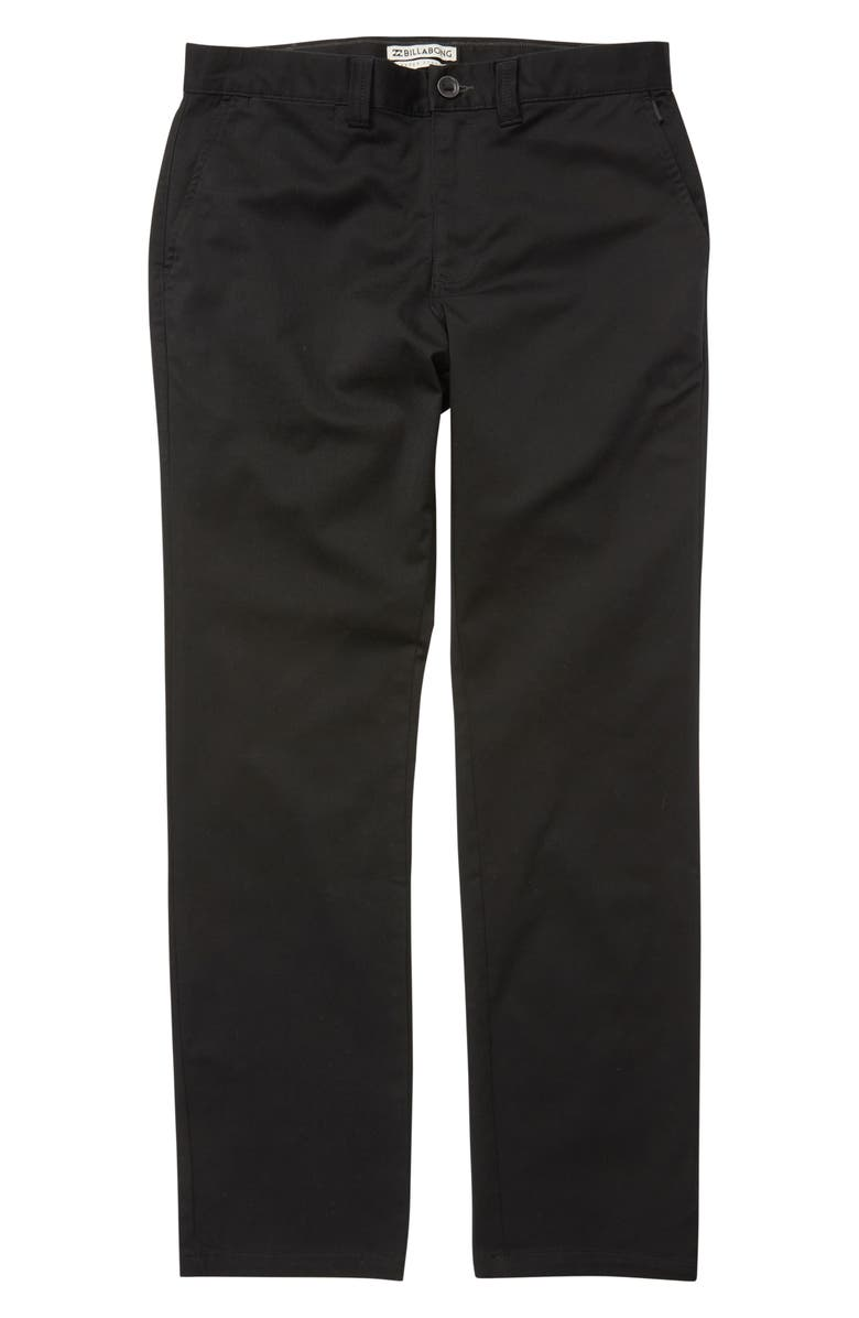 BILLABONG Carter Stretch Chinos, Main, color, BLACK