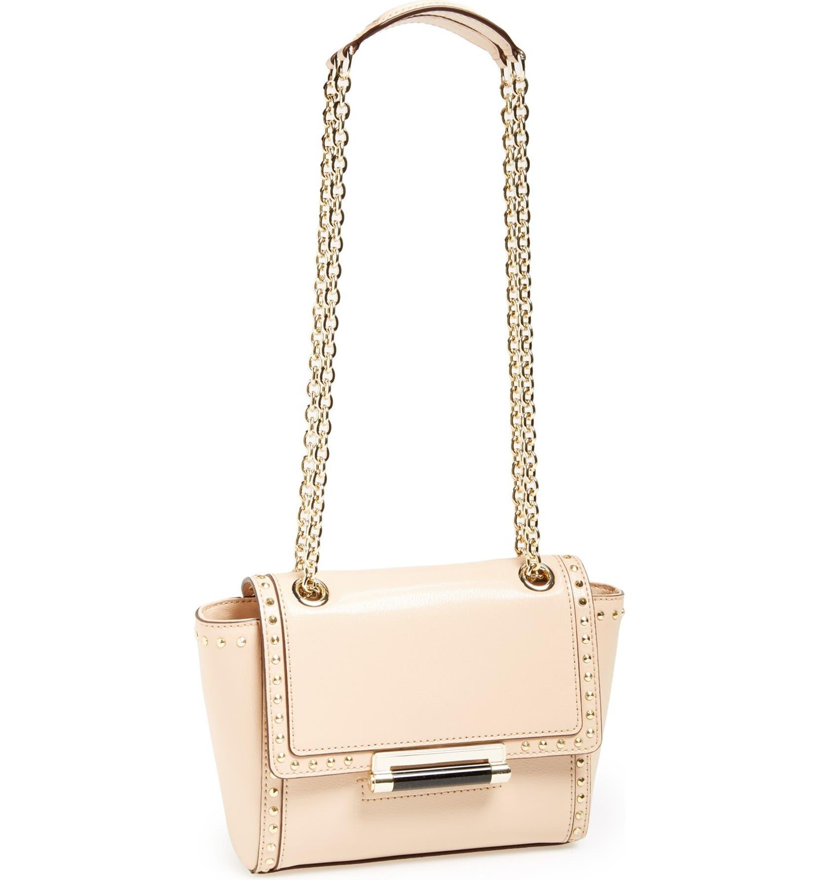 32c9ed8c36b1 Diane von Furstenberg 'Mini 440' Stud Leather Crossbody Bag | Nordstrom