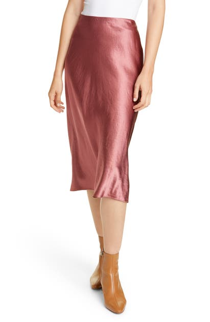 Vince Skirts SATIN SLIP SKIRT