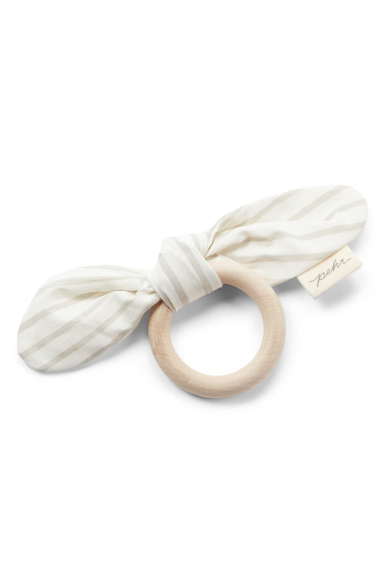 PEHR On The Go Teething Ring, Main, color, PEBBLE