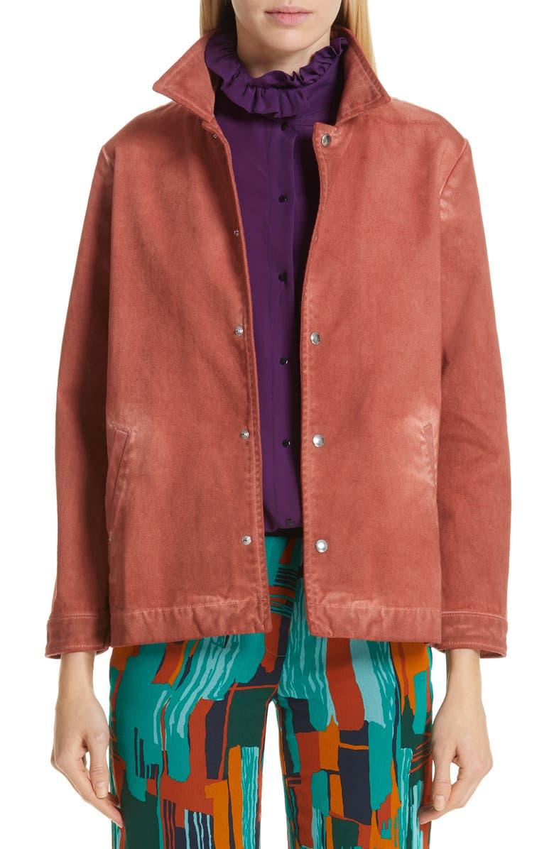 ROSEANNA Embroidered Denim Jacket, Main, color, 600