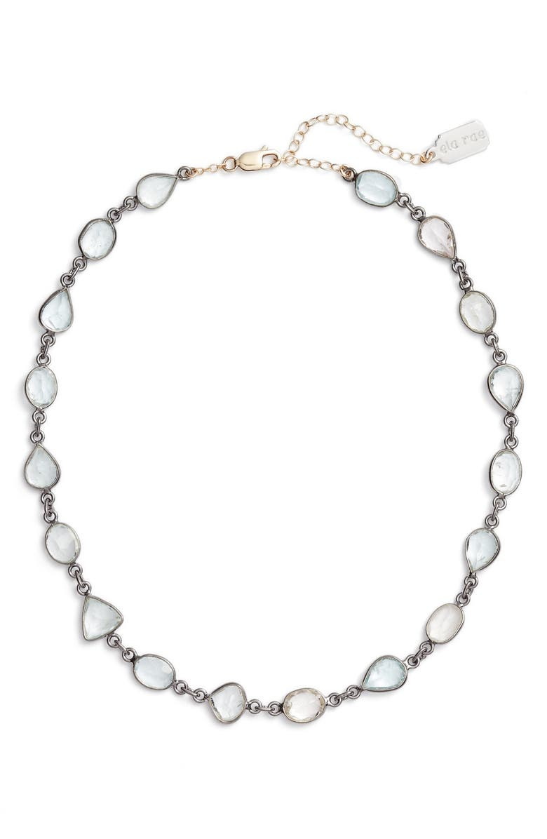 ELA RAE Sadie Collar Necklace, Main, color, ROSE CUT AQUAMARINE