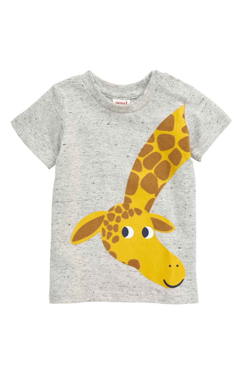 SEED HERITAGE Giraffe Print T-Shirt, Main, color, 020