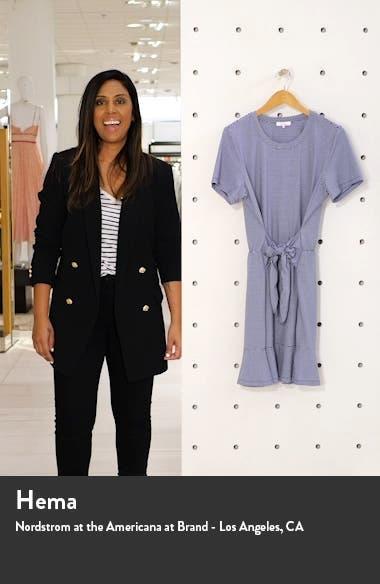 Annika Stripe Stretch Cotton Minidress, sales video thumbnail