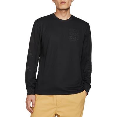 Nike Acg Long Sleeve Waffle Knit T-Shirt, Black