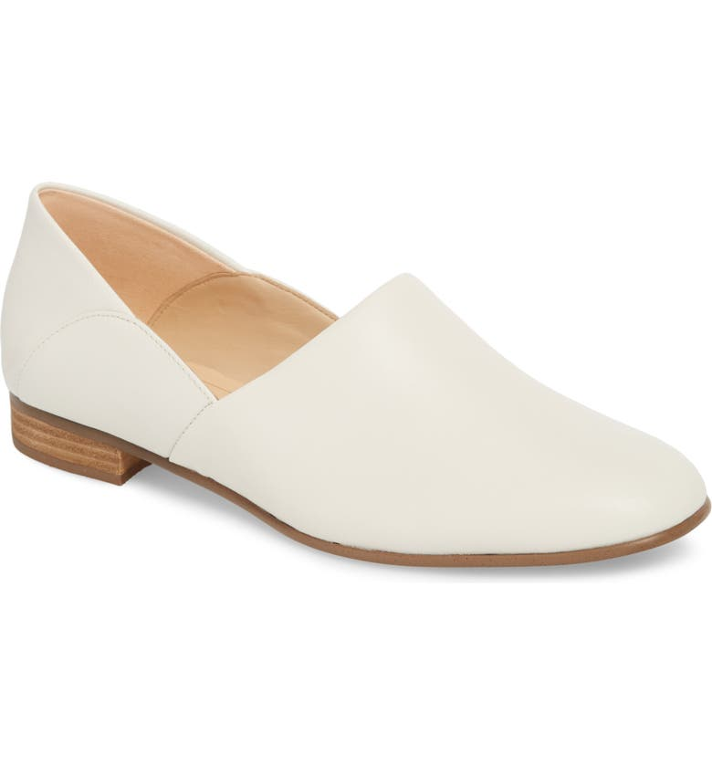 CLARKS<SUP>®</SUP> Pure Tone Flat, Main, color, WHITE LEATHER