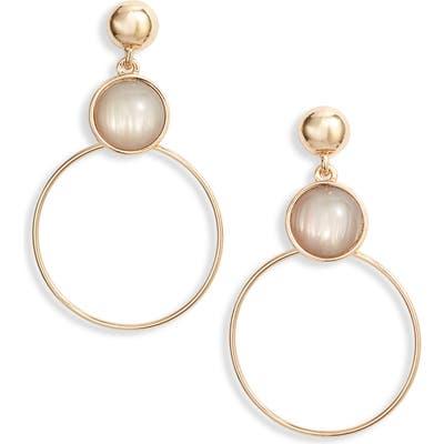 Halogen Iridescent Stone Hoop Earrings
