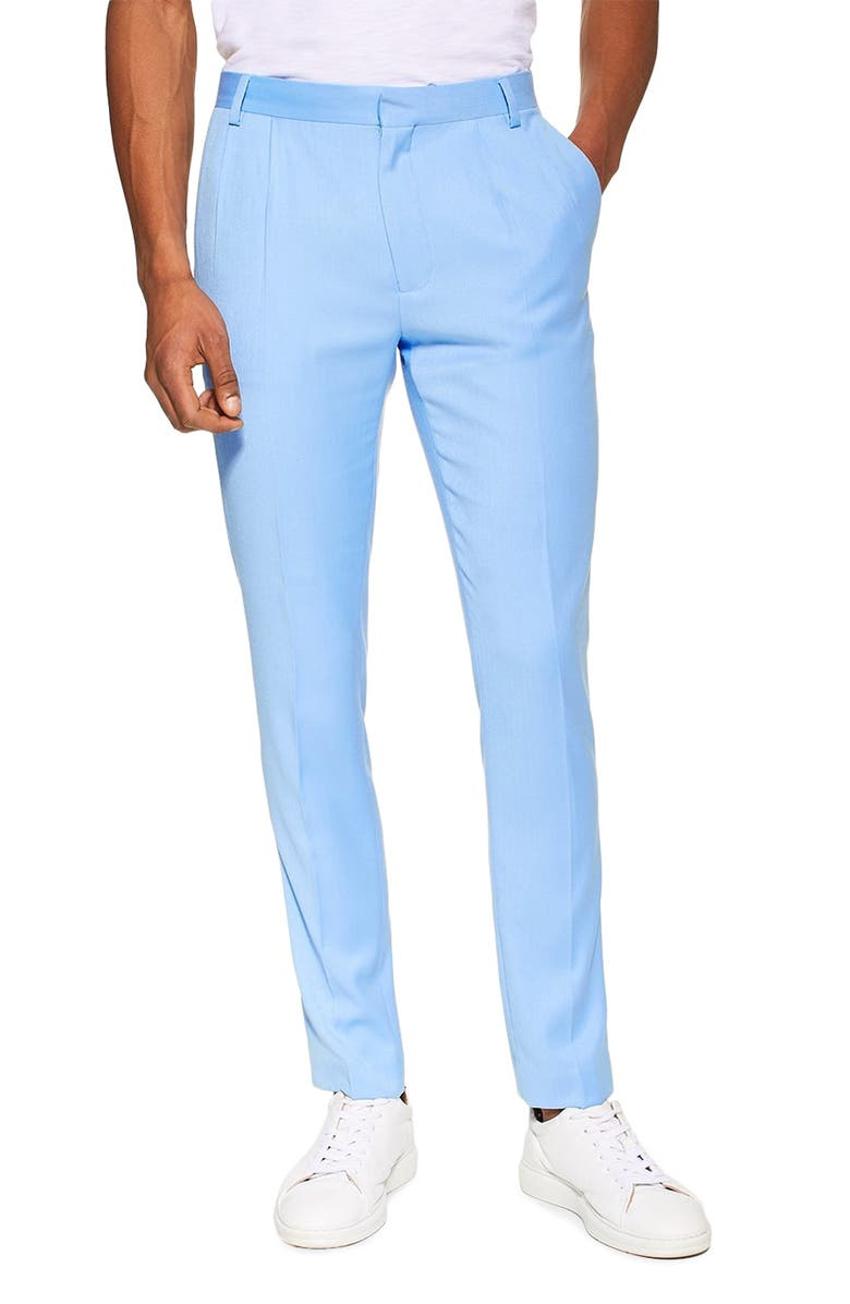 TOPMAN Skinny Fit Suit Dress Pants, Main, color, 400