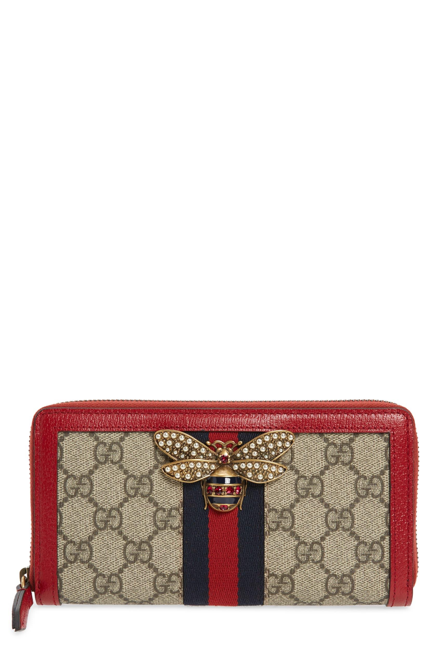 07026061e84548 Gucci Queen Margaret GG Supreme Canvas Wallet | Nordstrom