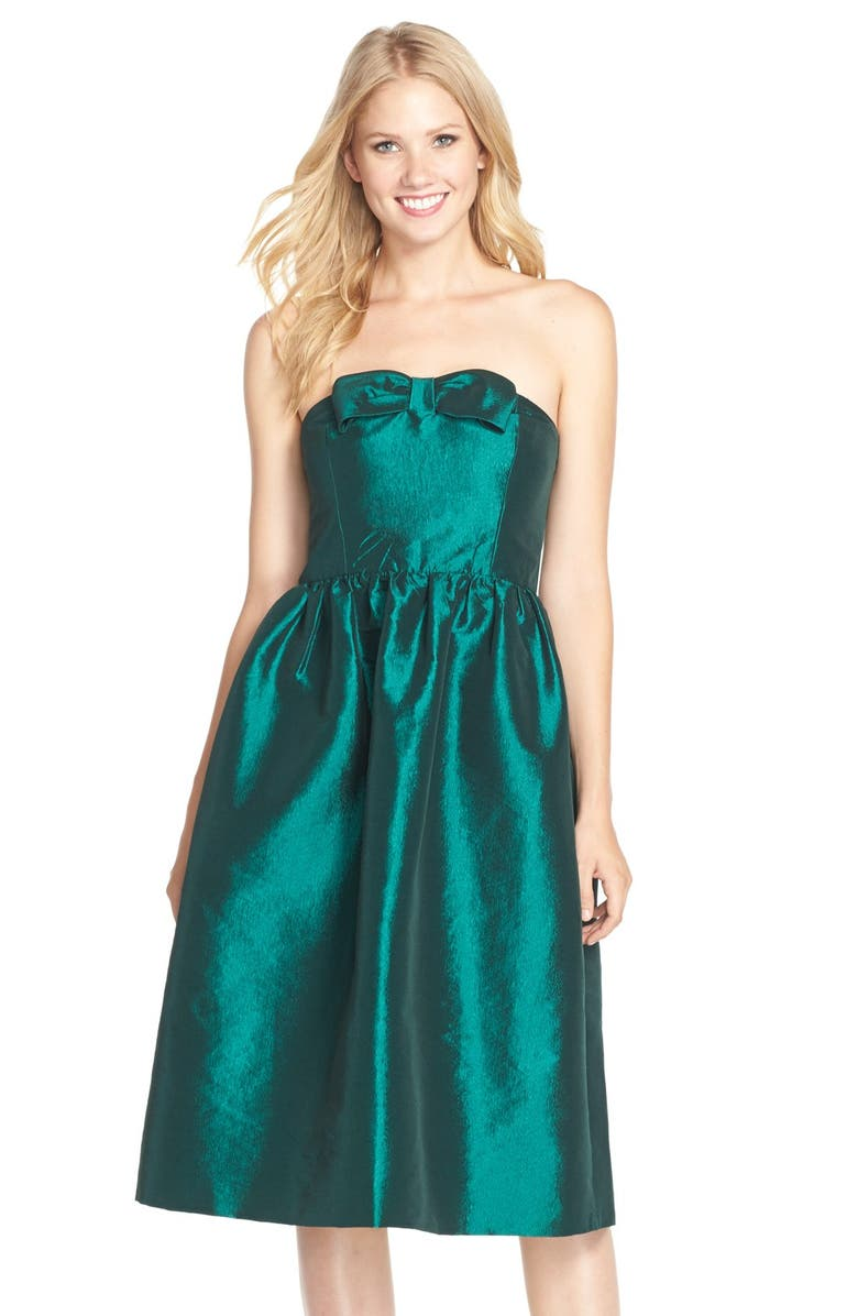 CECE by Cynthia Steffe'Fallon' Taffeta Midi Dress, Main, color, 322