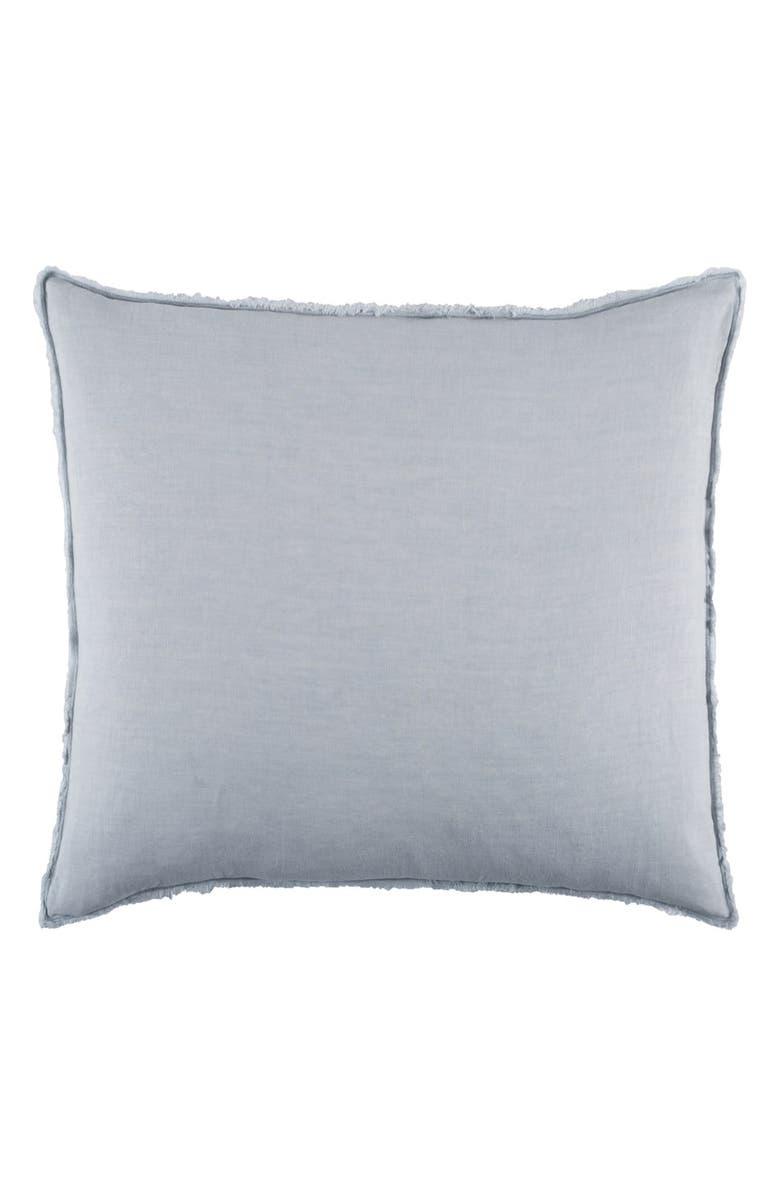 POM POM AT HOME 'Blair' Linen Euro Pillow Sham, Main, color, OCEAN