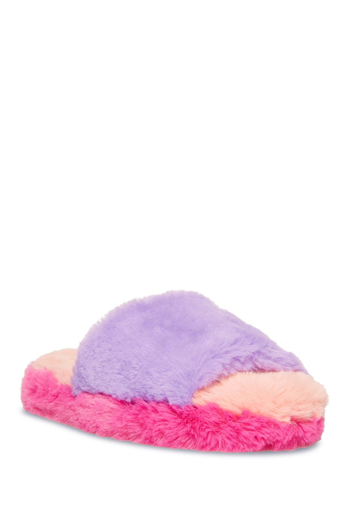 Image of Steve Madden Frillz Faux Fur Slipper