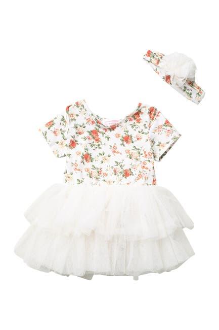 Image of Popatu Floral Tutu Dress & Headband Set