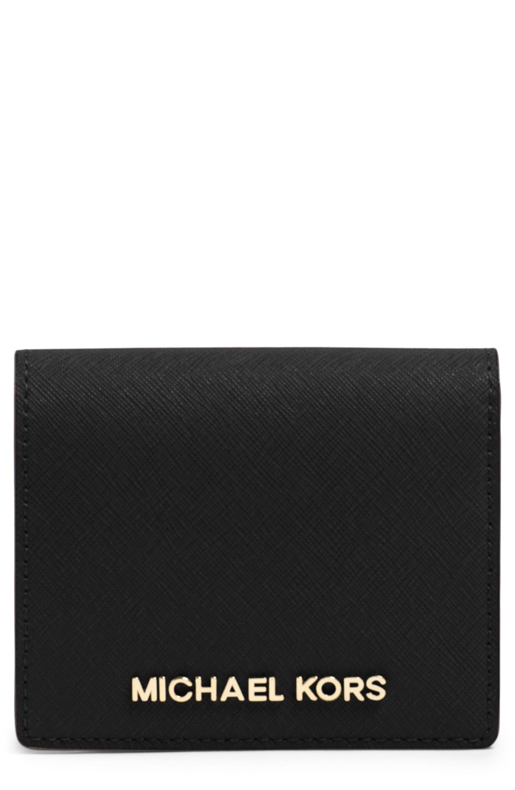 0e3781a4f425 MICHAEL Michael Kors 'Jet Set' Saffiano Leather Wallet   Nordstrom