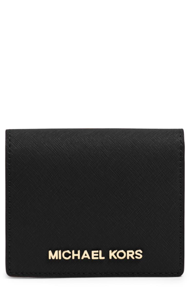 f25eaeccb9 MICHAEL Michael Kors 'Jet Set' Saffiano Leather Wallet | Nordstrom