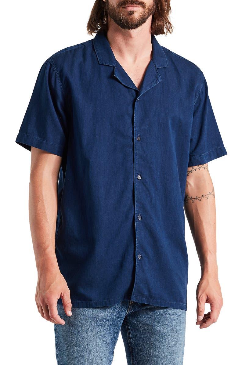 LEVI'S<SUP>®</SUP> Cubano Indigo Camp Shirt, Main, color, 400