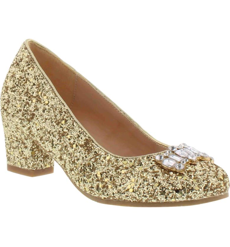 BADGLEY MISCHKA COLLECTION Badgley Mischka Starlett Adorb Pump, Main, color, GOLD