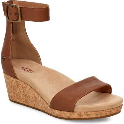 UGG Zoe Ii Wedge Sandal, Brown