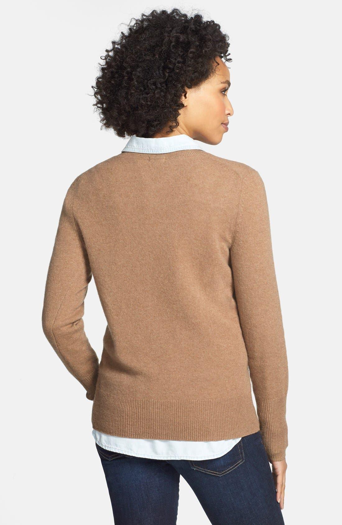 ,                             Cashmere V-Neck Sweater,                             Alternate thumbnail 23, color,                             201