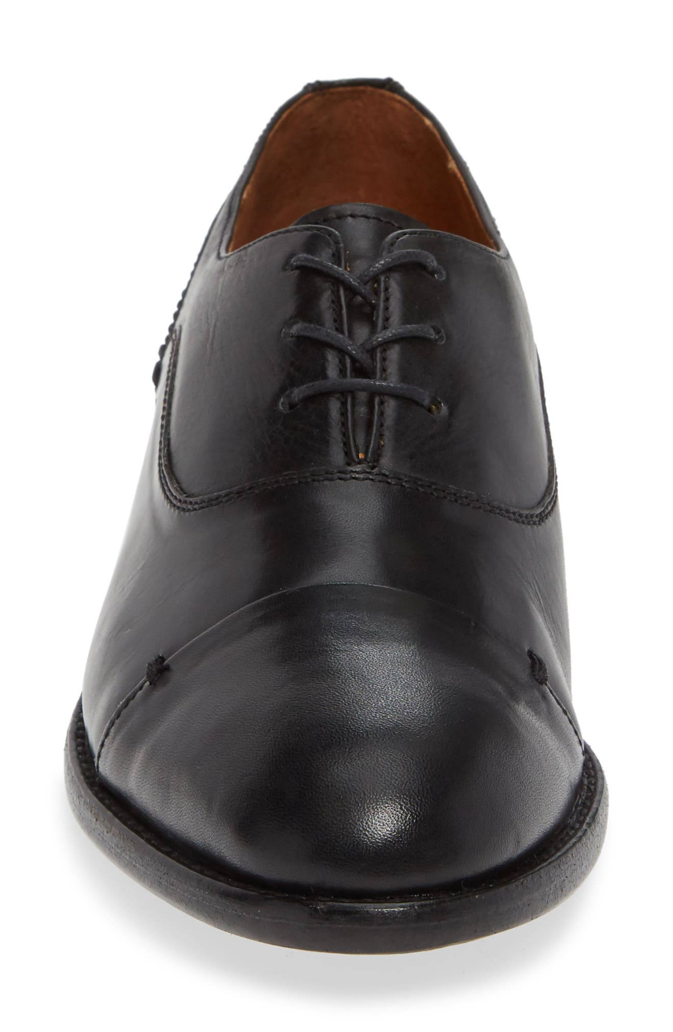 ,                             by Ariat Austen Optional Lace-Up Oxford,                             Alternate thumbnail 4, color,                             BLACK LEATHER
