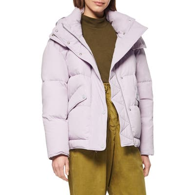 Andrew Marc Down & Feather Puffer Jacket, Purple