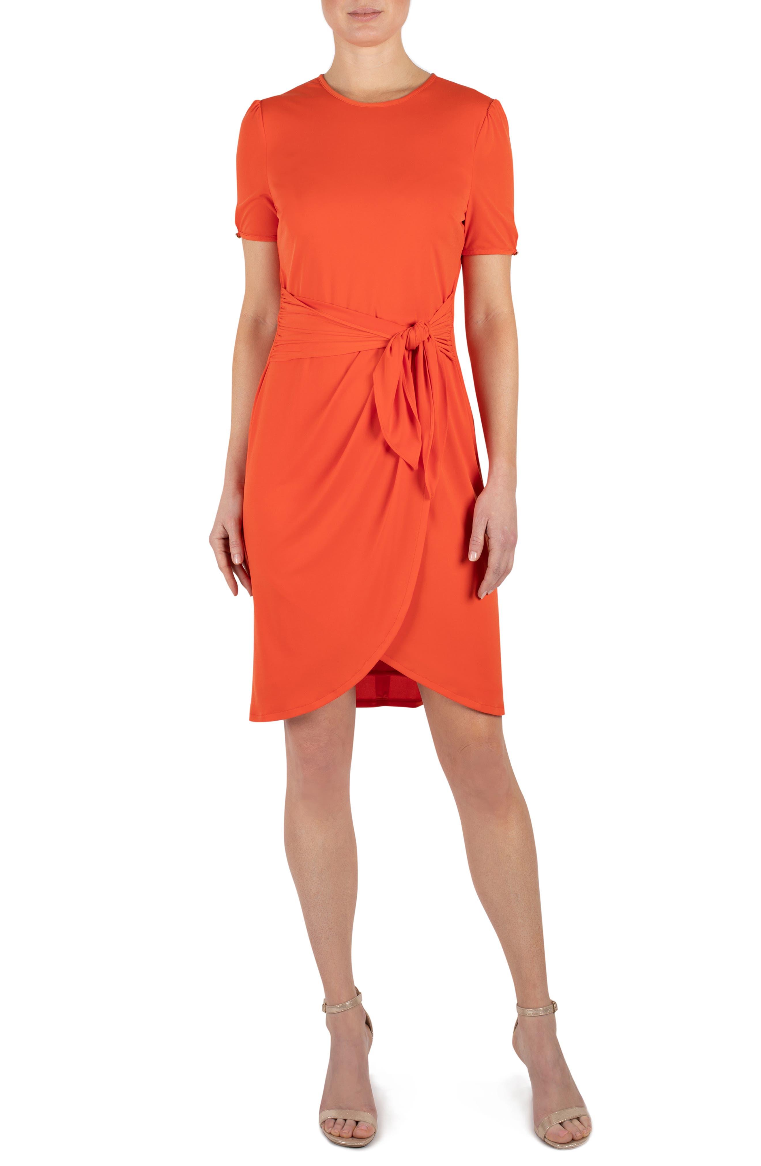 Round Neck Short Sleeve T-Shirt Dress