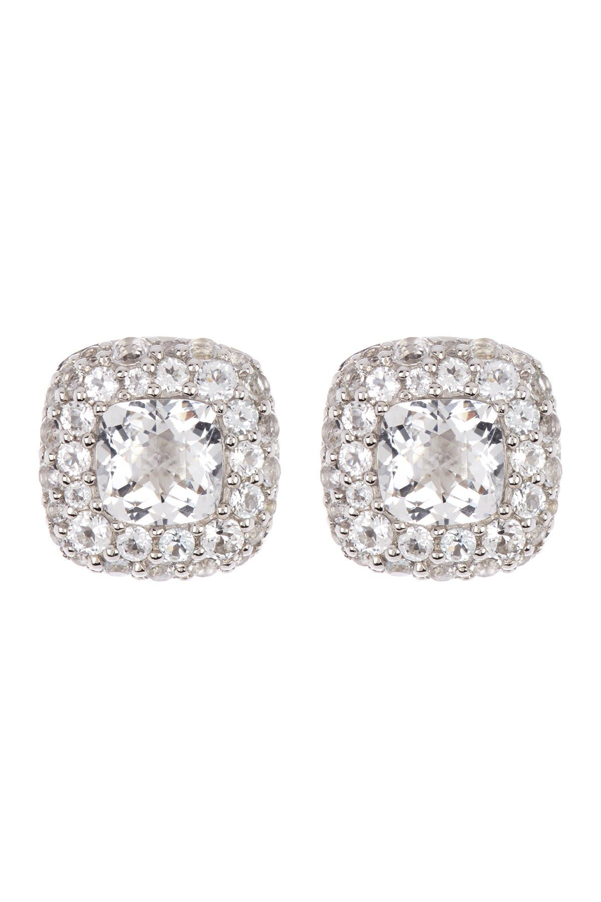 Image of JOHN HARDY Sterling Silver Small Square Earrings