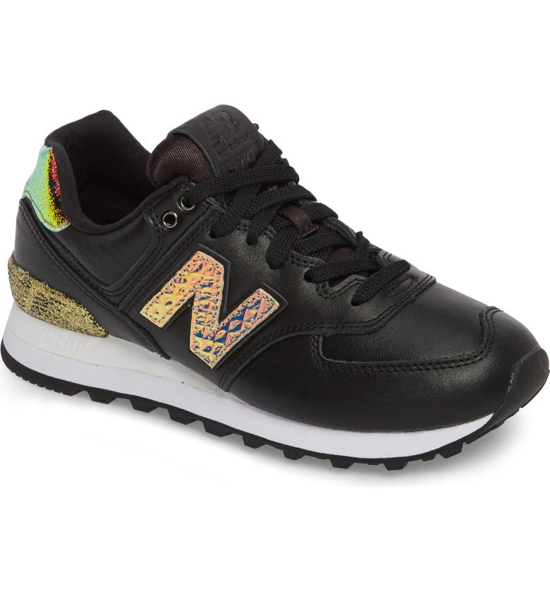 NEW BALANCE 574 Glitter Punk Sneaker, Main, color, 001