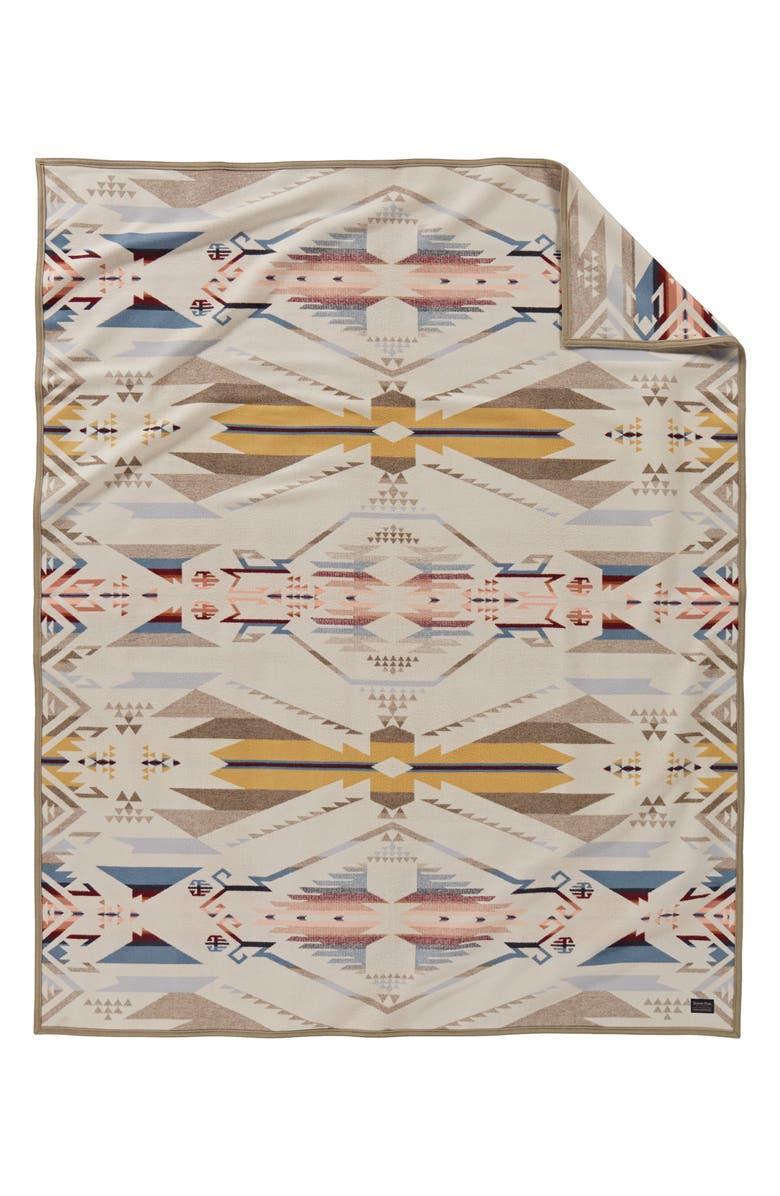 PENDLETON White Sands Jacquard Throw Blanket, Main, color, 100