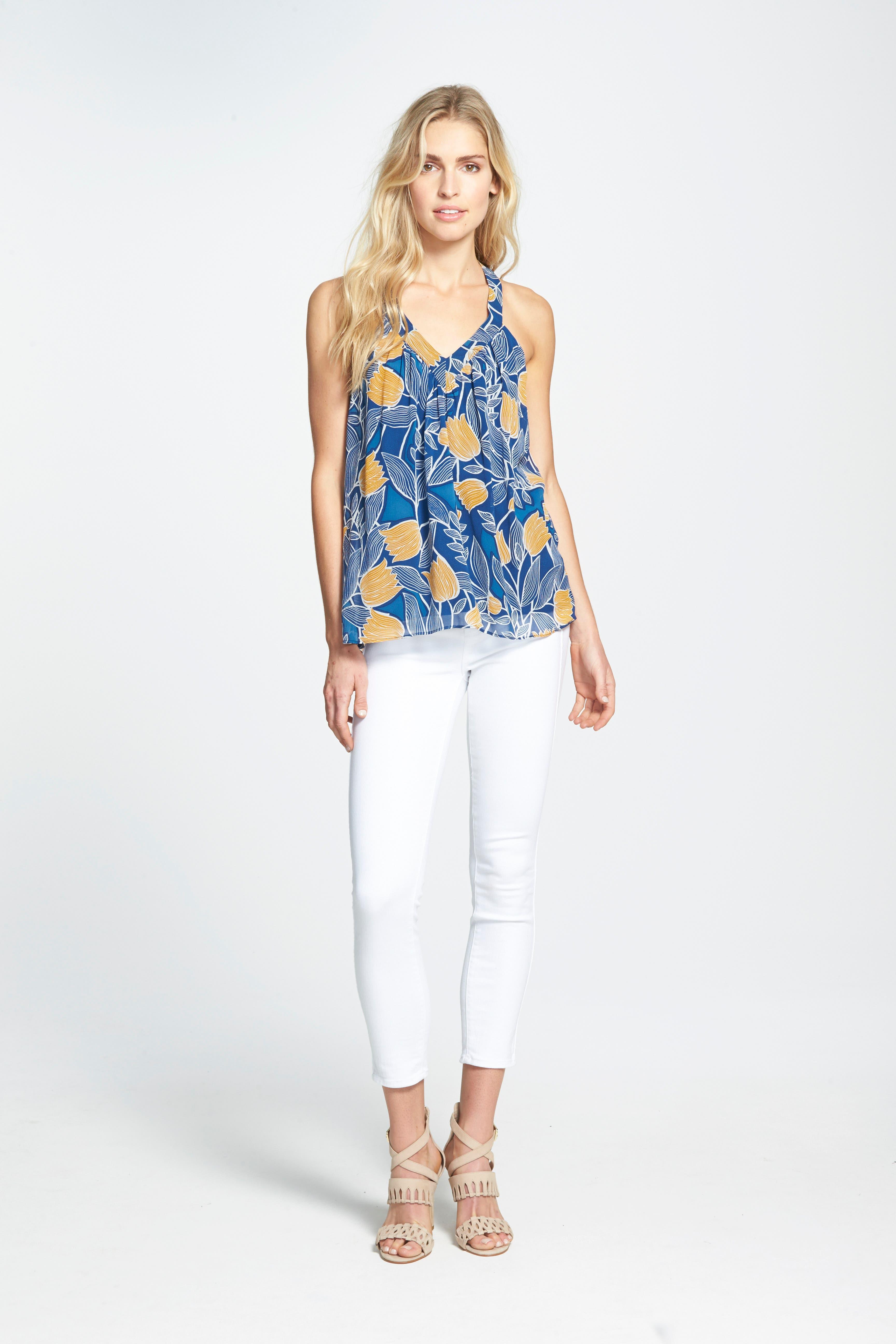 ,                             Denim Hoxton High Waist Skinny Jeans,                             Alternate thumbnail 6, color,                             ULTRA WHITE