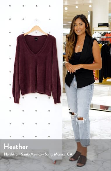 Fuzzy V-Neck Sweater, sales video thumbnail