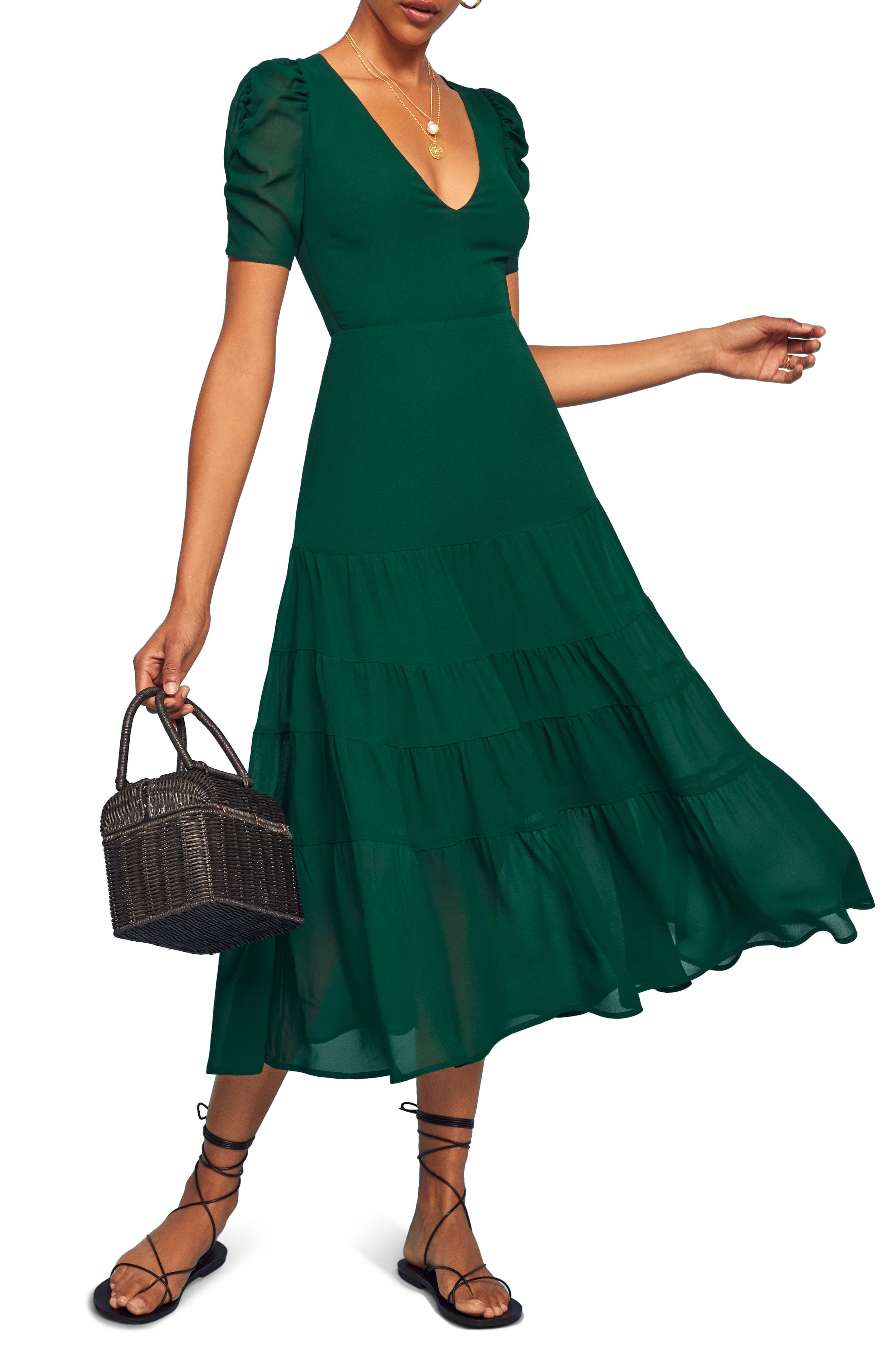 Reformation Cosa Midi Dress