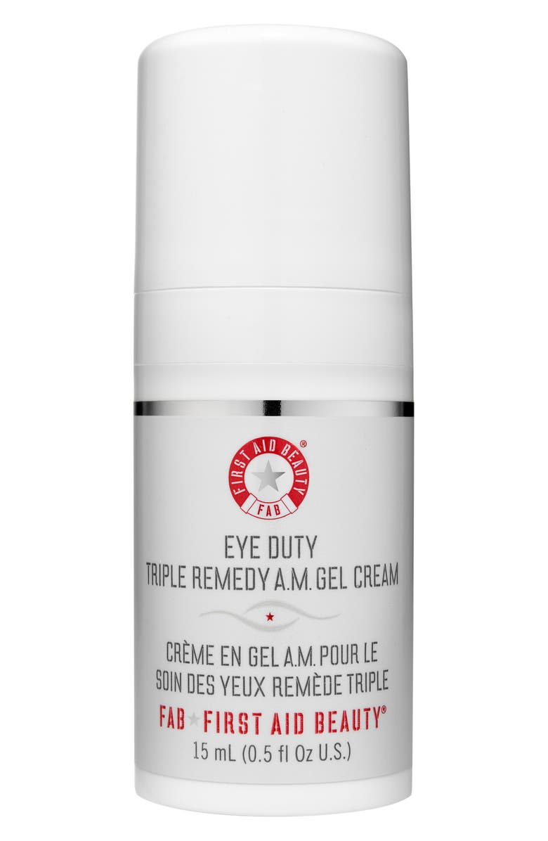 FIRST AID BEAUTY Eye Duty Triple Remedy A.M. Gel Cream, Main, color, NO COLOR