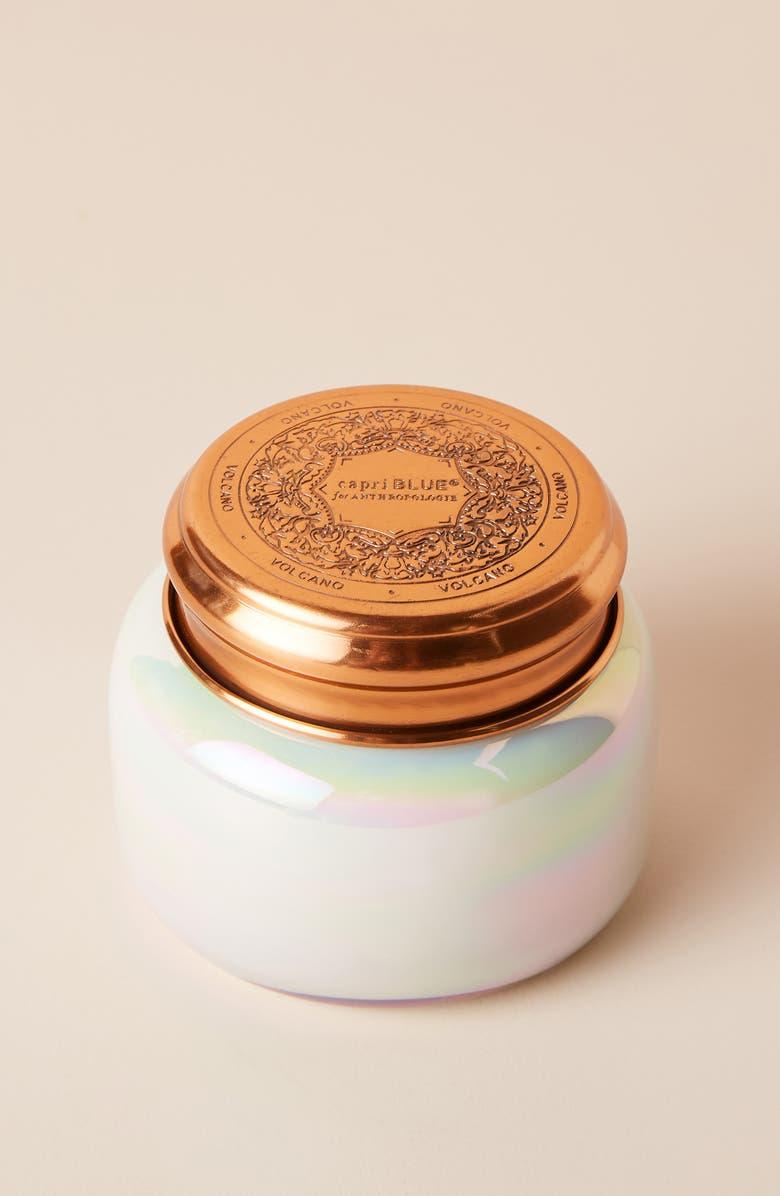 ANTHROPOLOGIE HOME Capri Iridescent Jar Candle, Main, color, VOLCANO