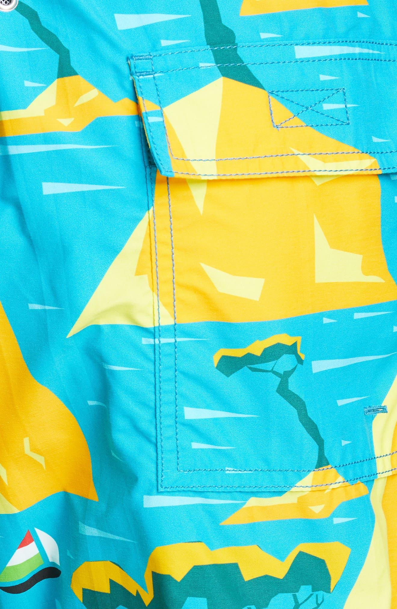 ,                             Capri Swim Trunks,                             Alternate thumbnail 5, color,                             SEYCHELLES