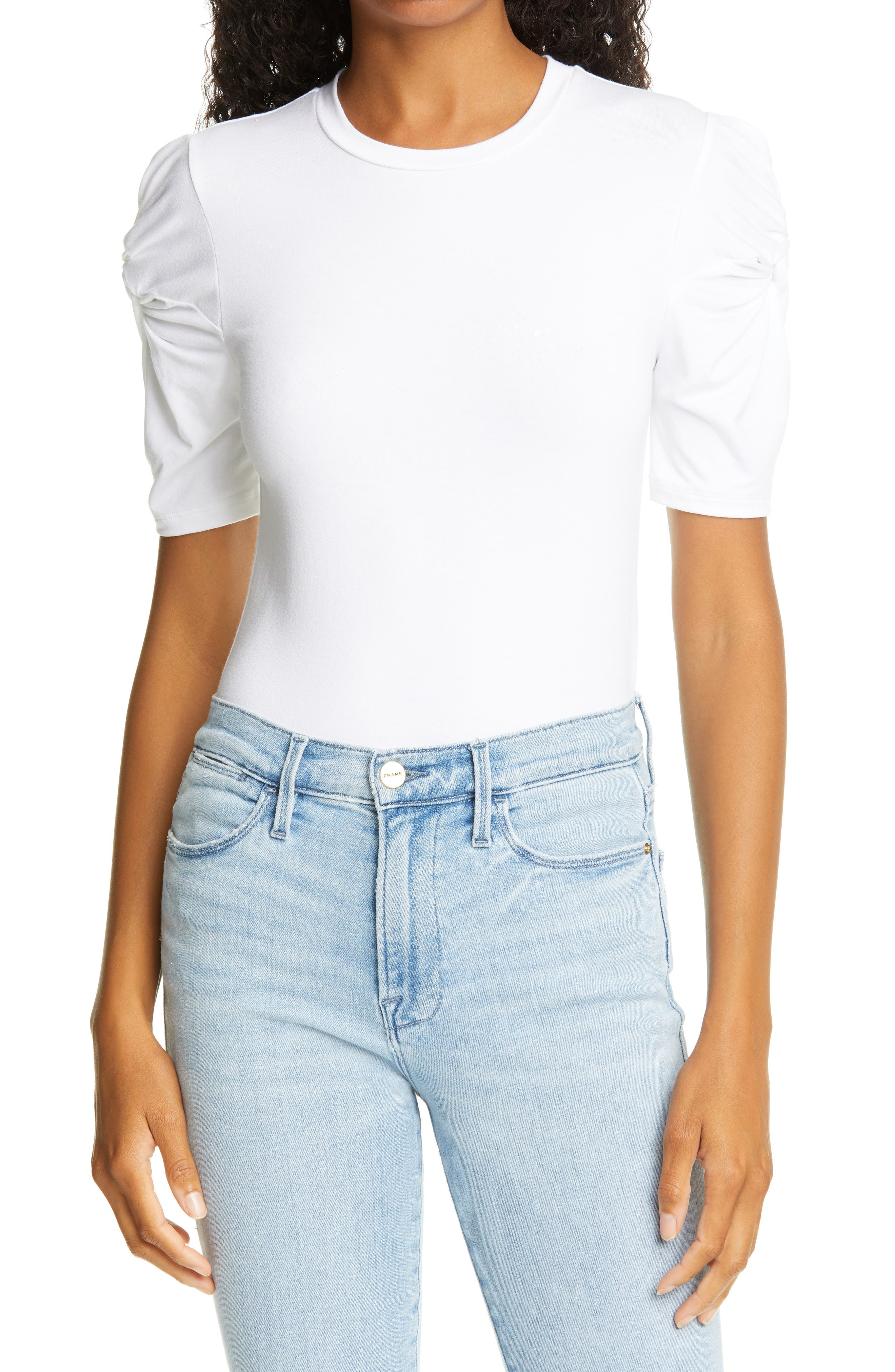 FRAME TWISTED SLEEVE TOP