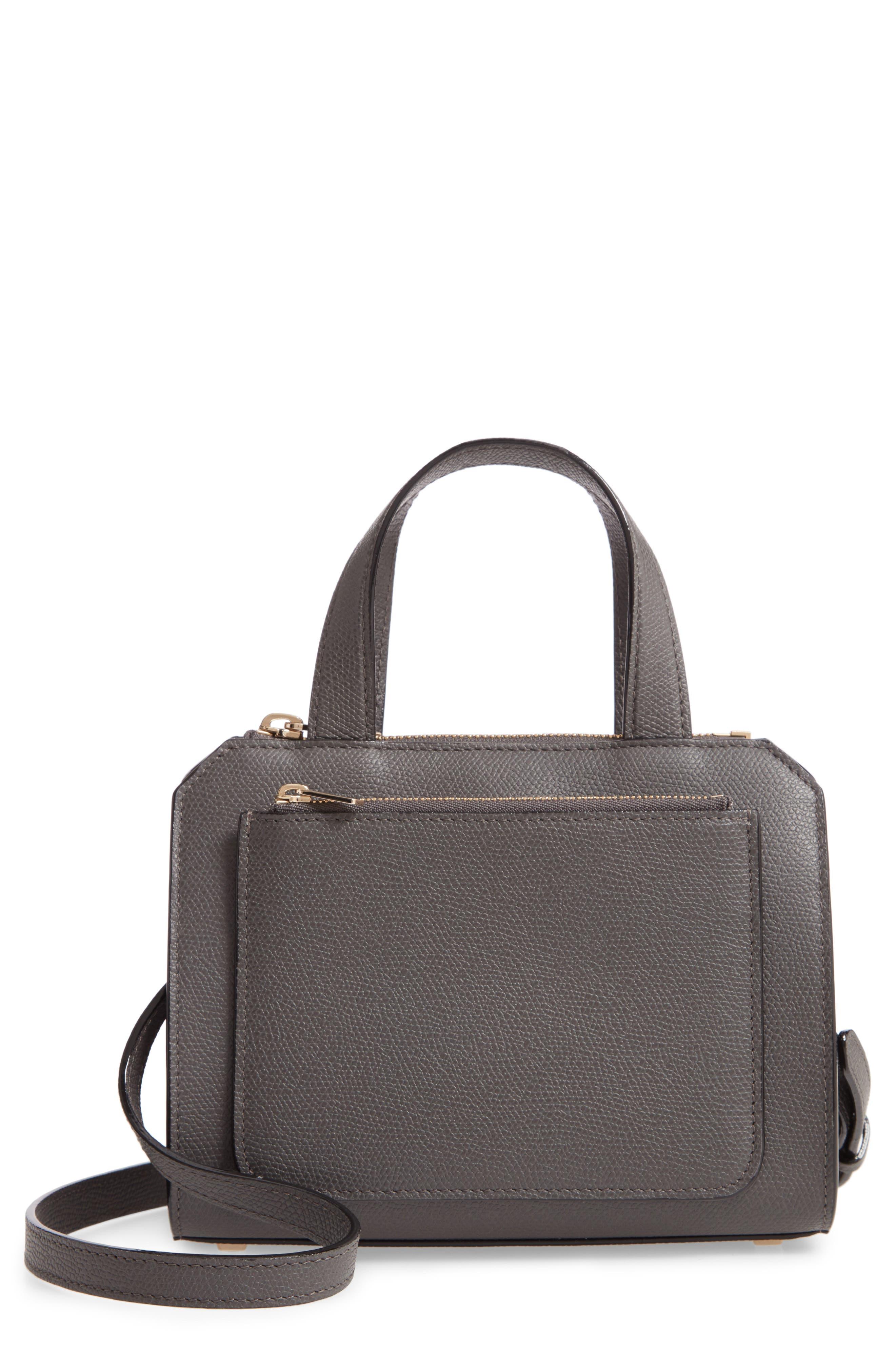 Valextra Mini Passepartout Leather Satchel   Nordstrom