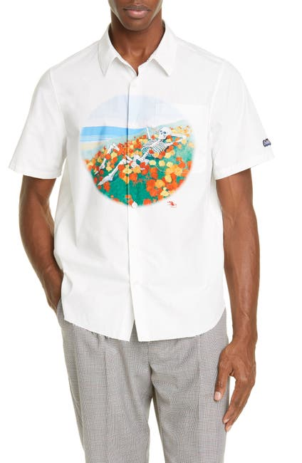 Image of OVADIA AND SONS Mouse Beach Button Front Shirt